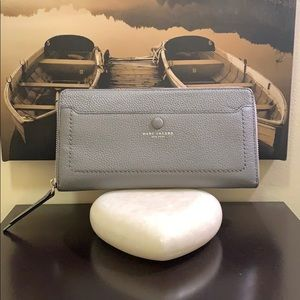 Marc Jacobs Empire City Leather Travel Wallet Grey